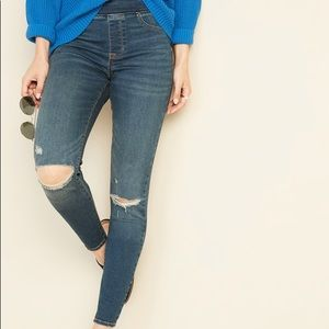 [Old Navy] Midrise Distressed Rockstar Jeggings